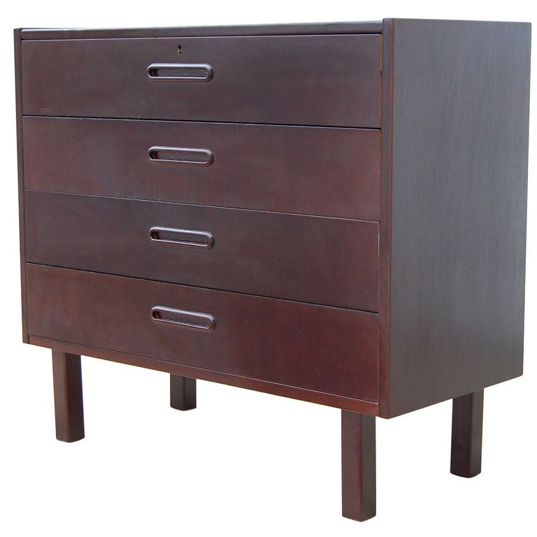 Mid century swedish modern nightstand chest of drawers for for Modern nightstands for sale