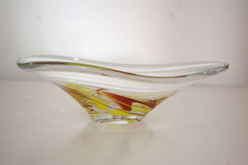 Swedish Mid Century Modern Art Glass Bowl For Sale At 1stdibs