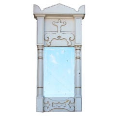 Late Gustavian or Early Biedermeier Painted Wall Mirror
