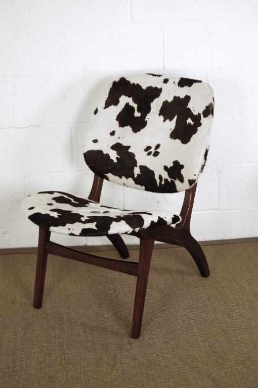 This fun accent chair has been completely restored and updated with