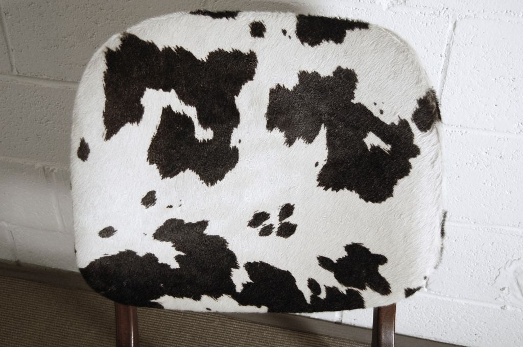 Cowhide Swedish Mid-Century Modern Pony Hide Lounge Chair For Sale