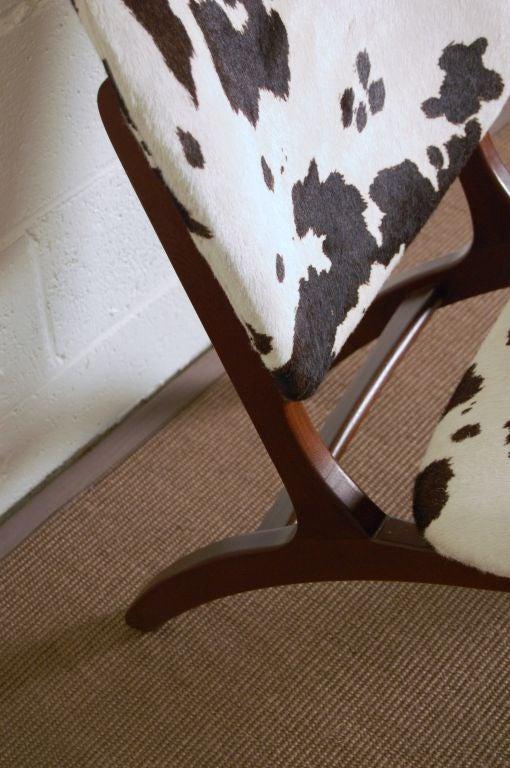 Swedish Mid-Century Modern Pony Hide Lounge Chair For Sale 1