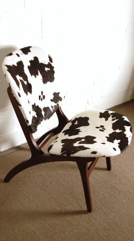 Swedish Mid-Century Modern Pony Hide Lounge Chair For Sale 2