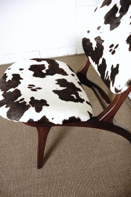 Swedish Mid-Century Modern Pony Hide Lounge Chair For Sale 3
