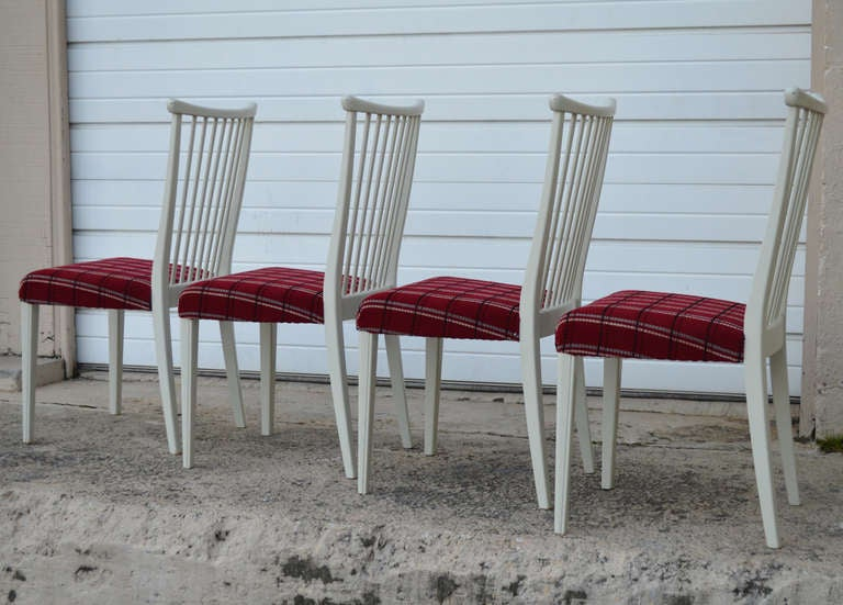 Other Set of Four Mid-Century Gustavian Style Dining Chairs For Sale