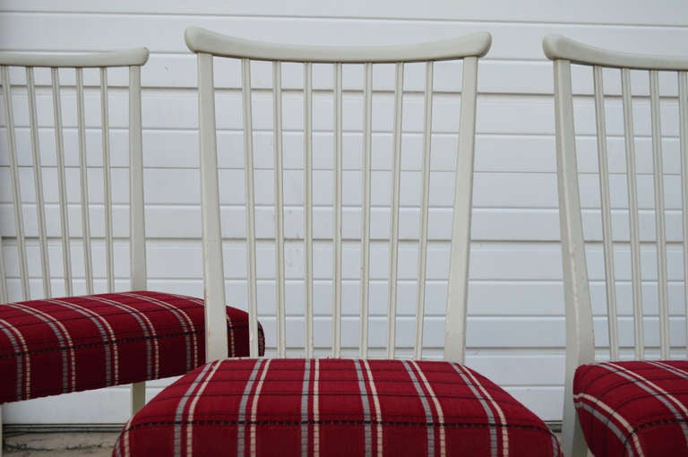 Mid-20th Century Set of Four Mid-Century Gustavian Style Dining Chairs For Sale