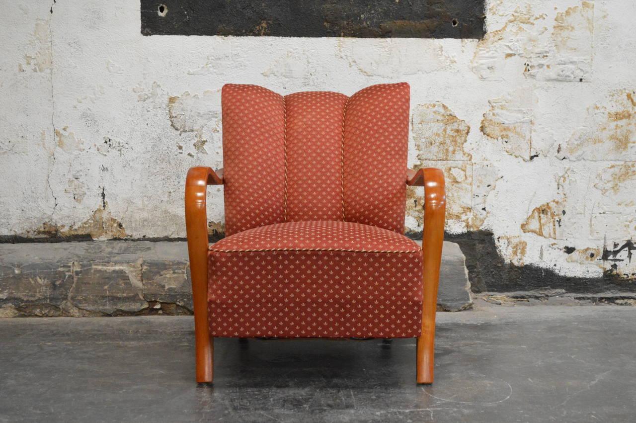 swedish art deco moderne armchair at 1stdibs. Black Bedroom Furniture Sets. Home Design Ideas