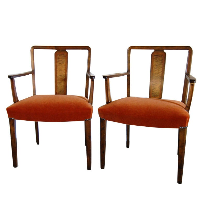 Pics photos highland burnt orange leather dining chair set of 2