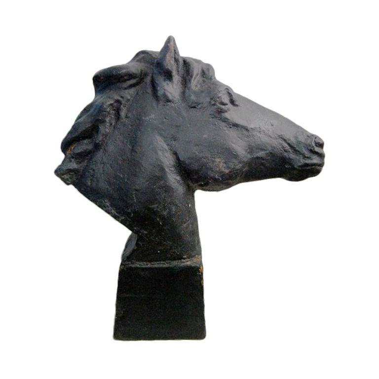 Vintage Swedish Cast Iron Horse Sculpture