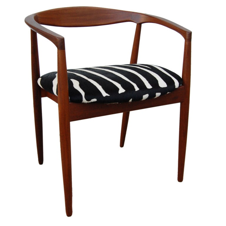 Danish Mid Century Modern Teak Armchair For Sale At 1stdibs