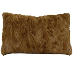 Reclaimed Vintage Dark Blonde Mink Fur Pillow