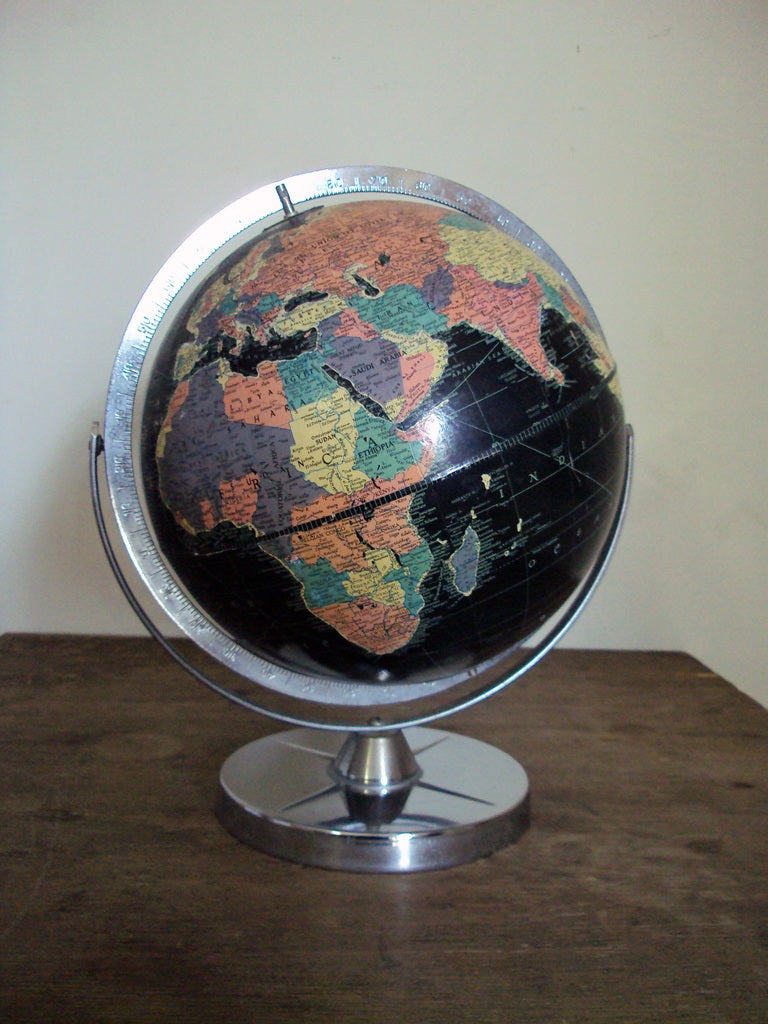 Vintage Black Sea Starlight Globe For Sale At 1stdibs