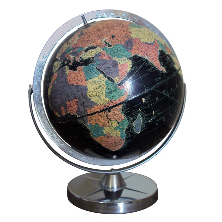 Vintage Black Sea Starlight Globe For Sale