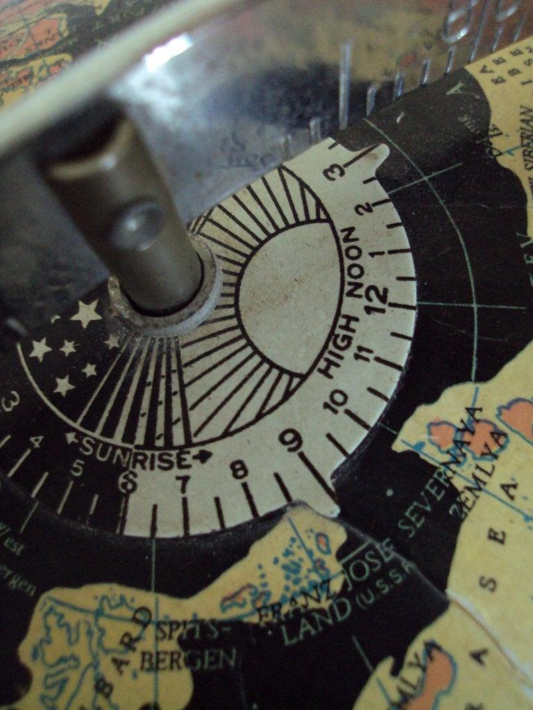 American Vintage Black Sea Starlight Globe For Sale