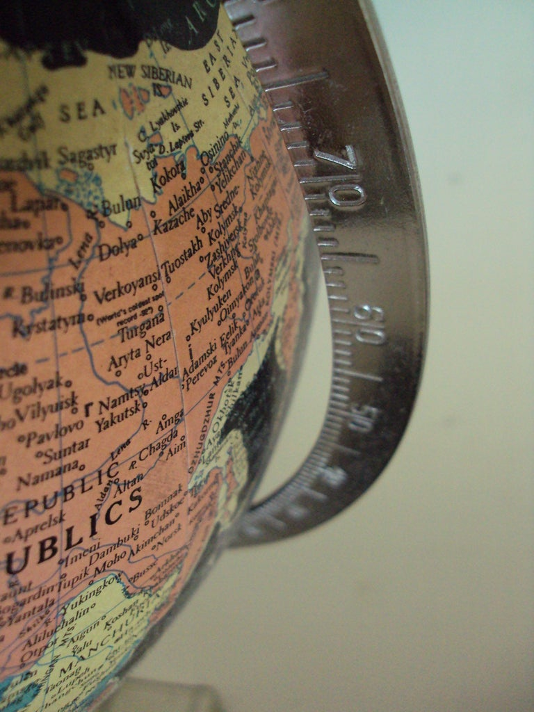 Vintage Black Sea Starlight Globe In Good Condition For Sale In Atlanta, GA