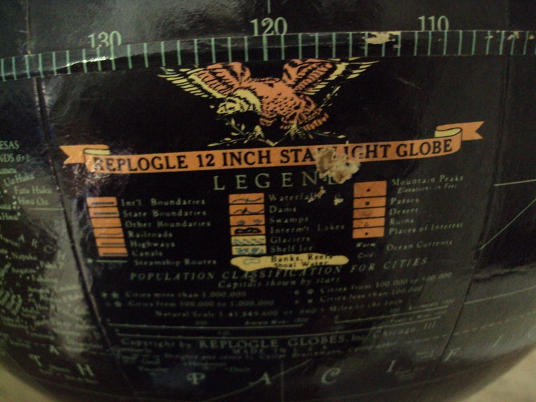 Mid-20th Century Vintage Black Sea Starlight Globe For Sale