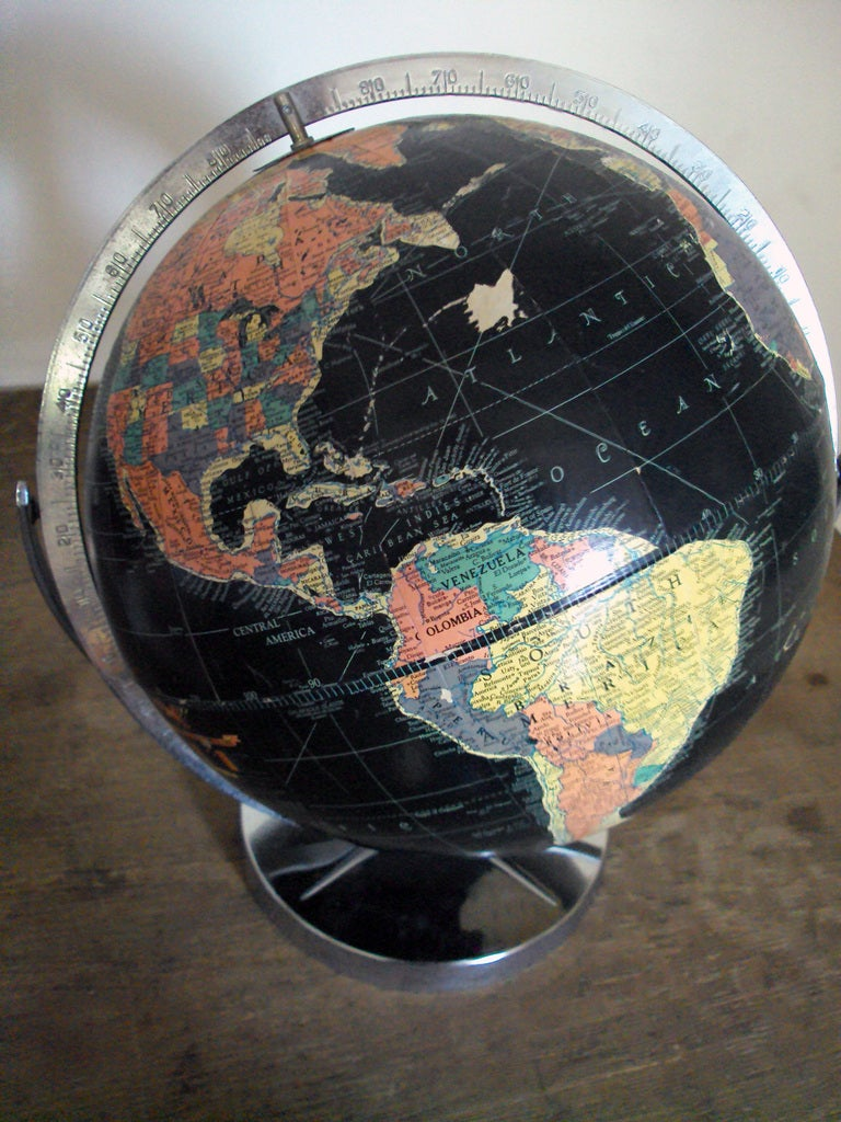 Vintage Black Sea Starlight Globe For Sale At 1stdibs