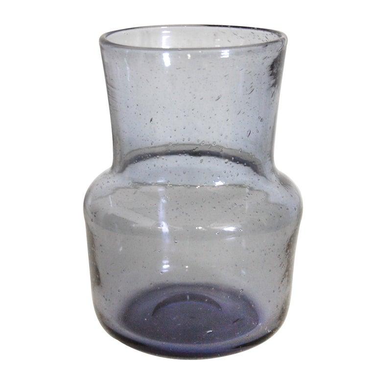 Vintage Swedish Art Glass Vase by Erik Höglund for Boda