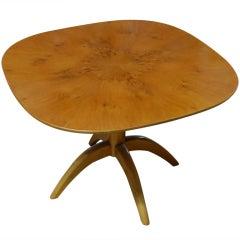 Swedish Modernist Carpathian Elm End or Side Table