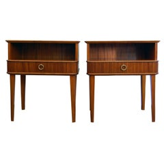 Exceptional Pair of Mahogany Night Stands or End Tables