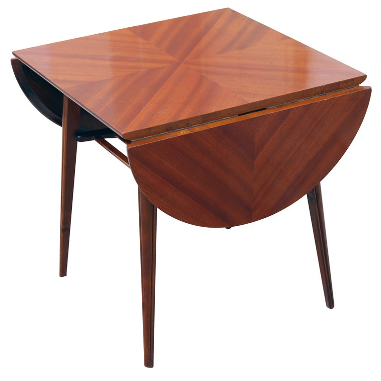 mid century drop leaf table 2