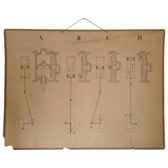 Vintage Swedish Engineering Diagram