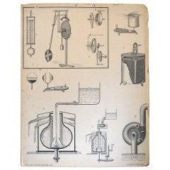 Vintage Swedish Mid-Century Physics Educational Diagram