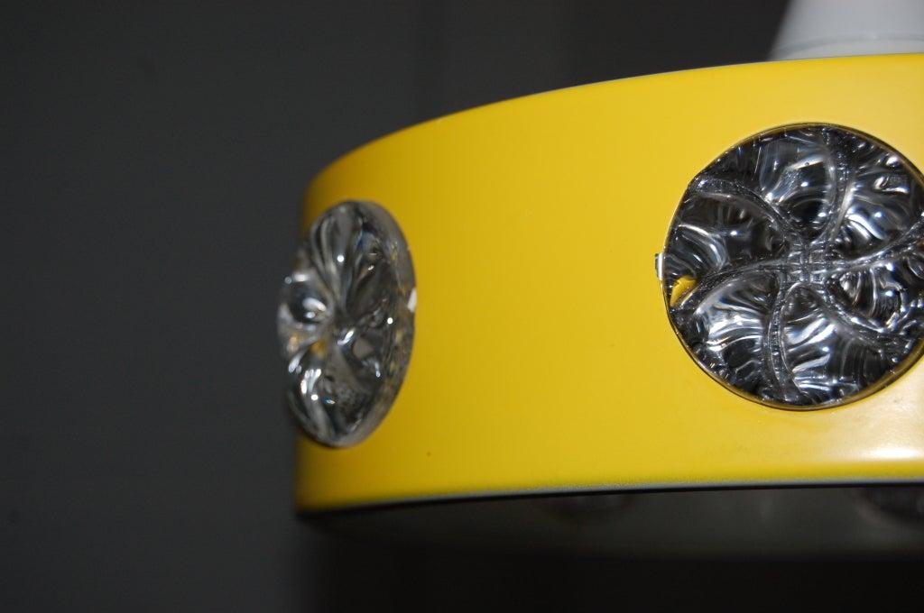 Vintage Mid-Century Swedish Modern Yellow Pendant In Good Condition For Sale In Atlanta, GA