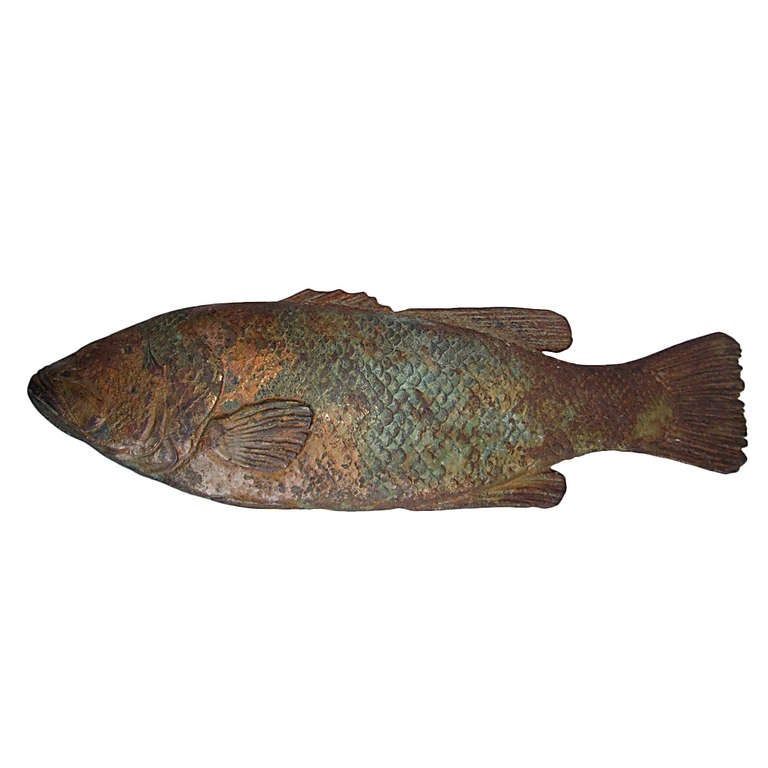 cast iron fish trade sign at 1stdibs
