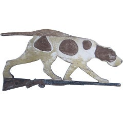 Circa 1920 Wood Dog Weathervane