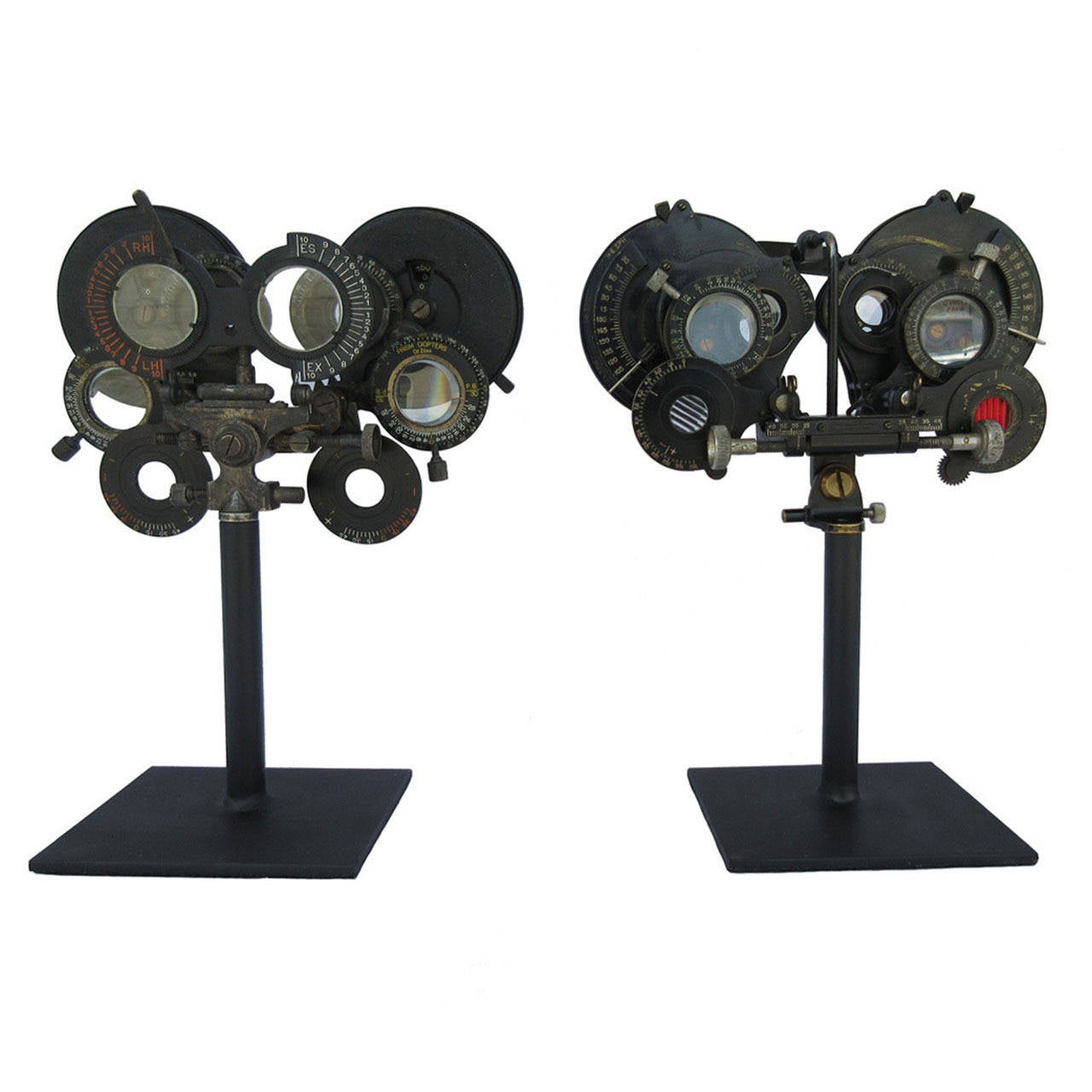 Pair Of Optometrist Eye Testing Scopes Circa 1900 At 1stdibs