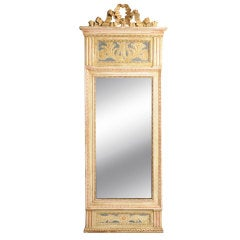 Swedish Late Gustavian giltwood and painted mirror