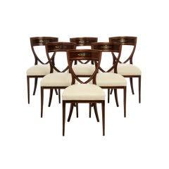 Set of Six Elegant Dining Chairs