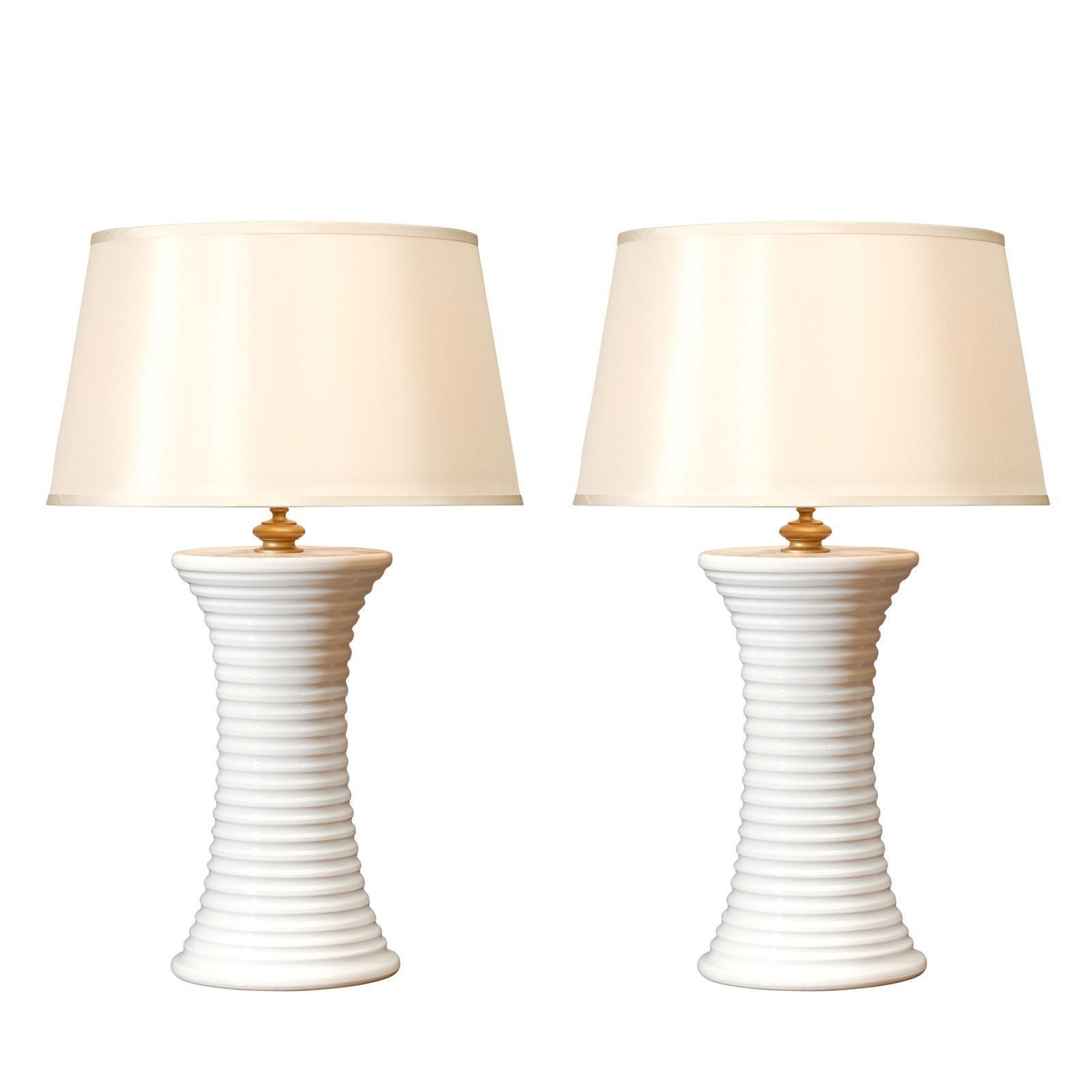 Wonderful Pair of Large Scale Vintage Ceramic Lamps
