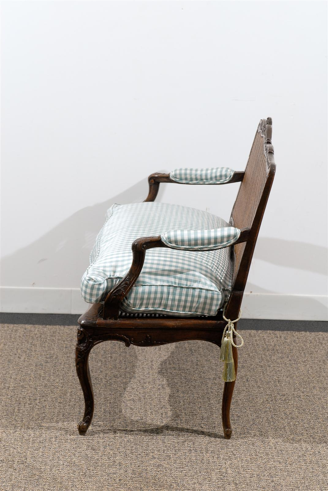 19th century caned louis xv style canap at 1stdibs. Black Bedroom Furniture Sets. Home Design Ideas