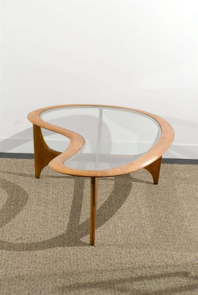 Very chic 1950 60s coffee table by lane at 1stdibs for 60s coffee table