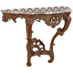 Louis XV 18th Century Console with Marble Top