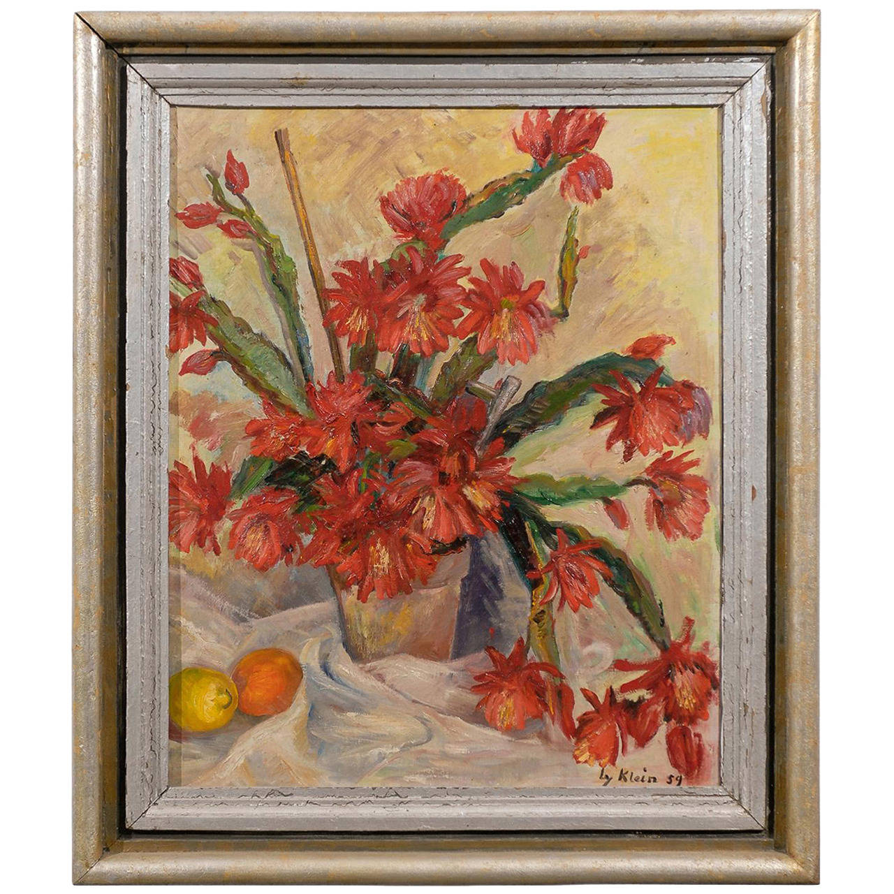 "Still Life Oil on Canvas Signed "" Klein"