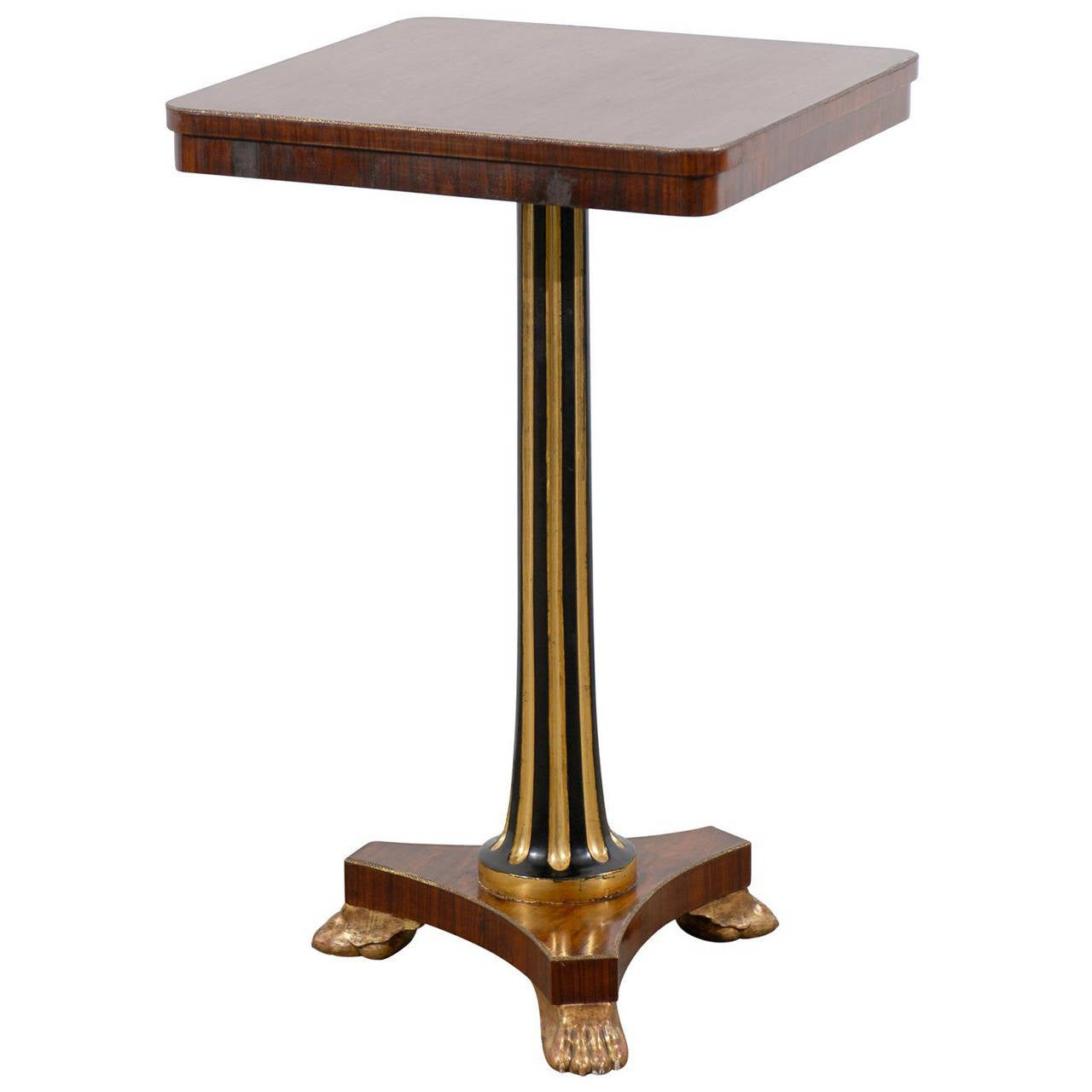 Regency Style Pedestal Side Table In Rosewood For Sale At