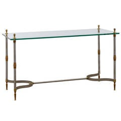 Glass Top Directoire Style Console in the Jansen Style