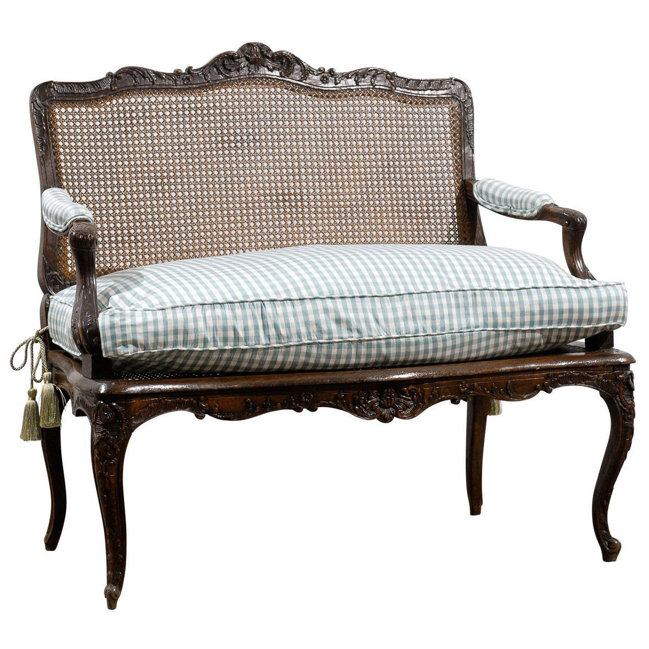 19th century caned louis xv style canap at 1stdibs for Canape style louis xv