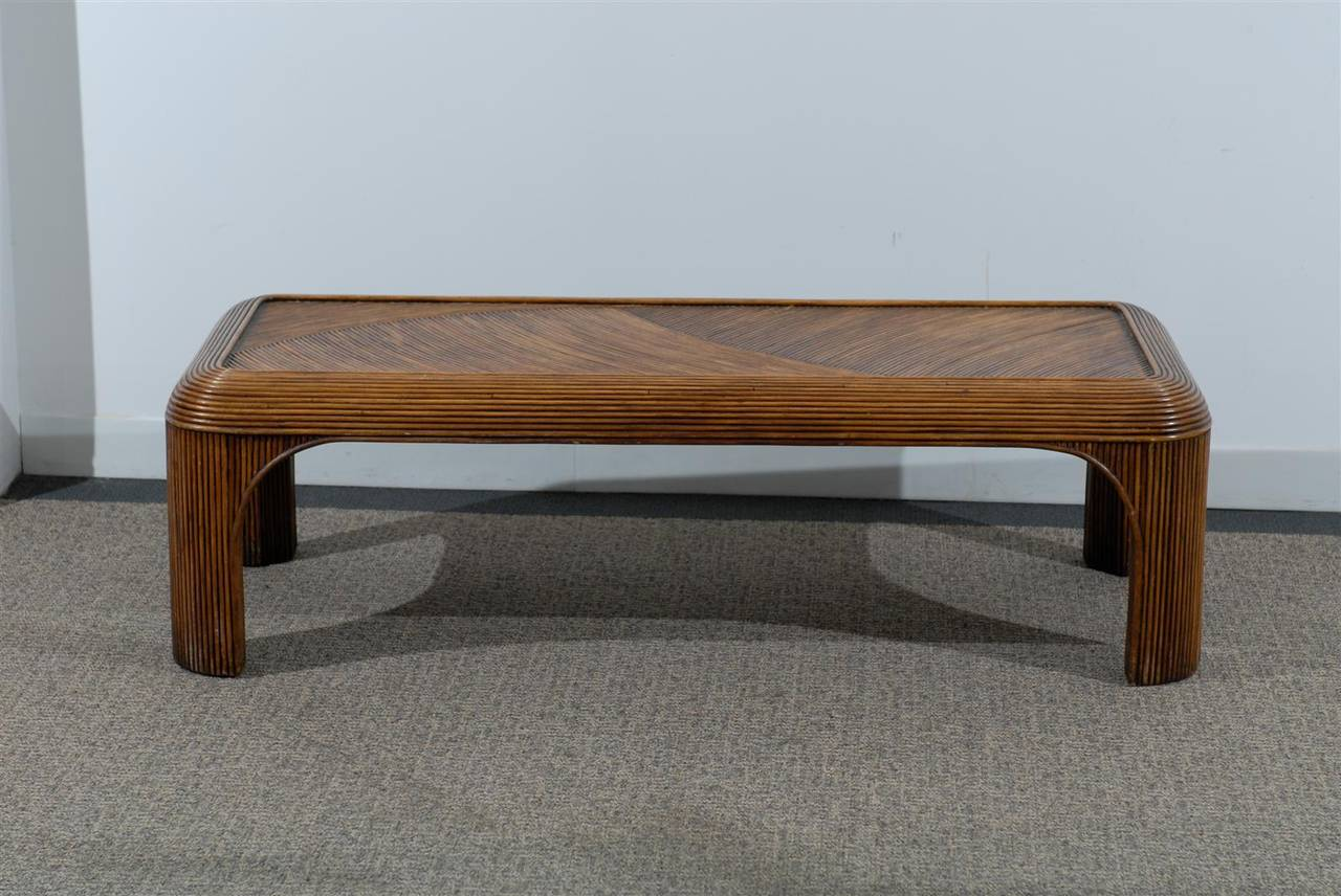 Asian Inspired Split Reed Coffee Table At 1stdibs