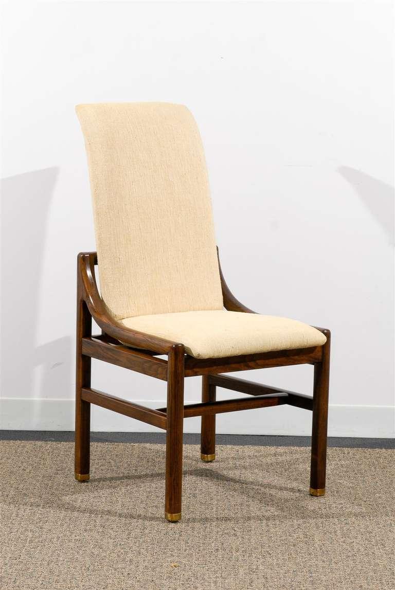 Gorgeous Set Of Ten 10 Vintage Henredon Dining Chairs In Walnut