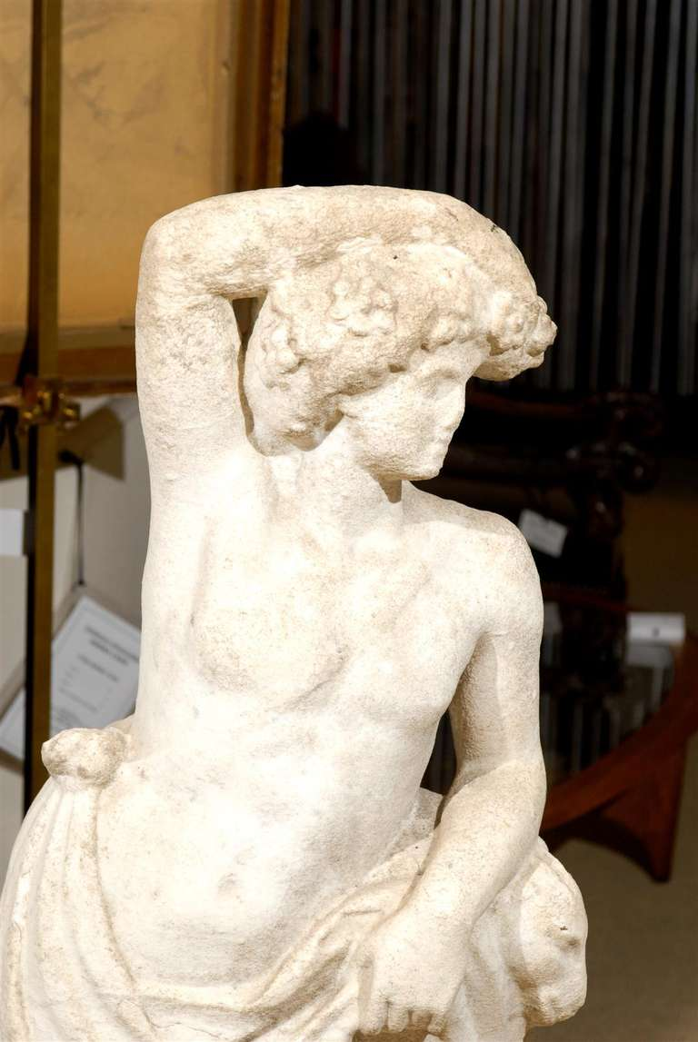 Neoclassical Garden Statue in Marble For Sale 1