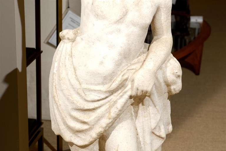 Neoclassical Garden Statue in Marble For Sale 2