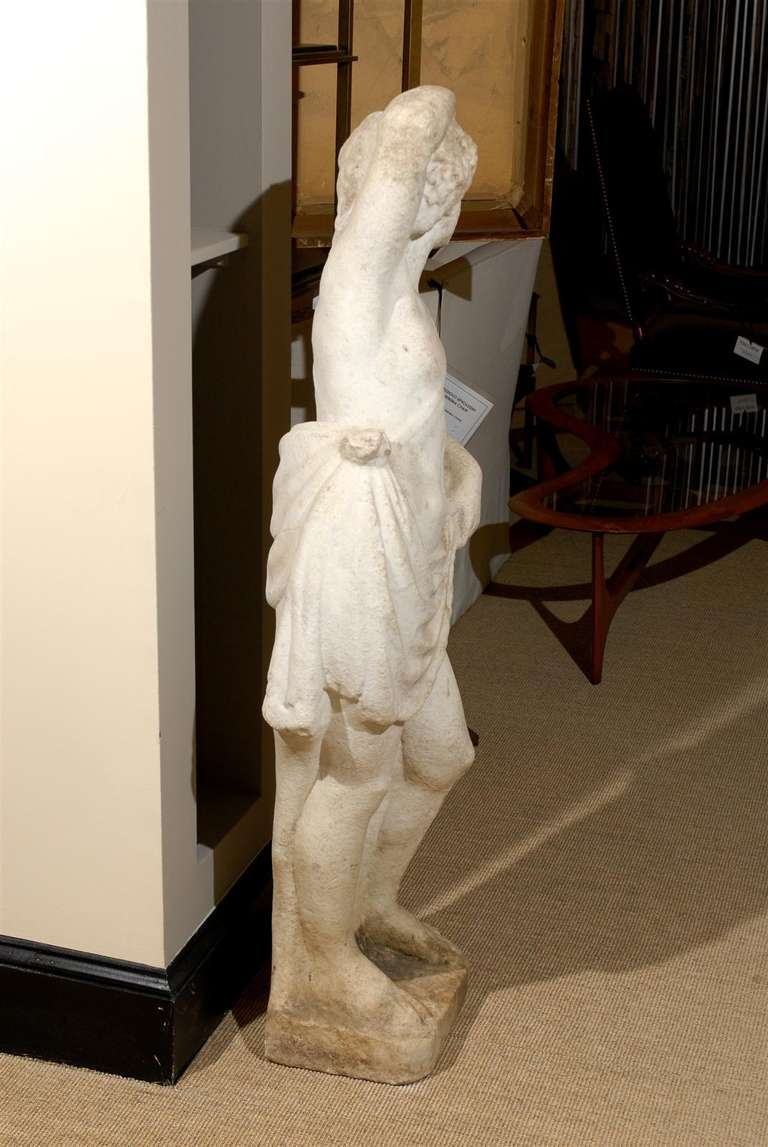 Neoclassical Garden Statue in Marble For Sale 5