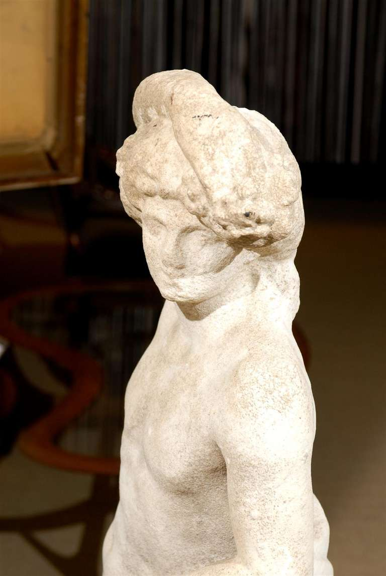 Neoclassical Garden Statue in Marble For Sale 3