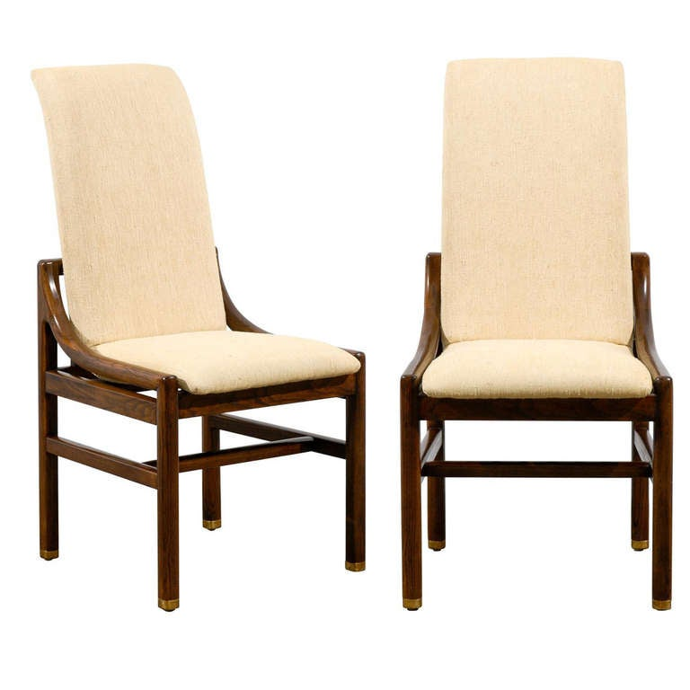gorgeous set of six 6 vintage henredon dining chairs