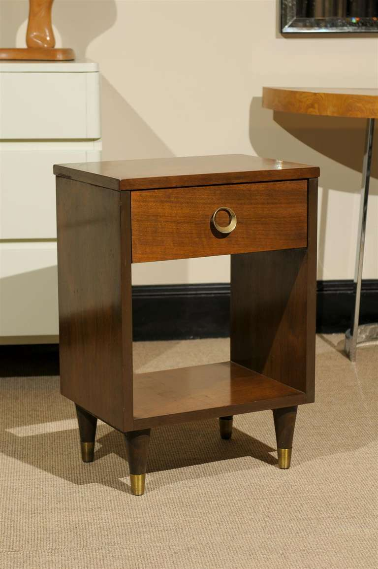 Stylish modern end tables night stands in walnut for sale for Modern nightstands for sale