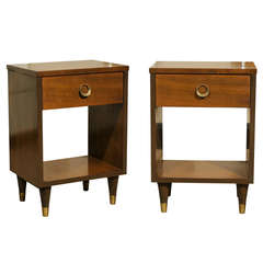 Stylish Modern End Tables/Night Stands in Walnut